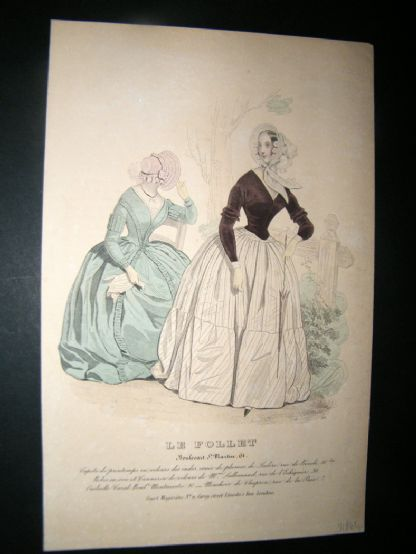 Le Follet C1850's Hand Coloured Fashion Print 915 | Albion Prints